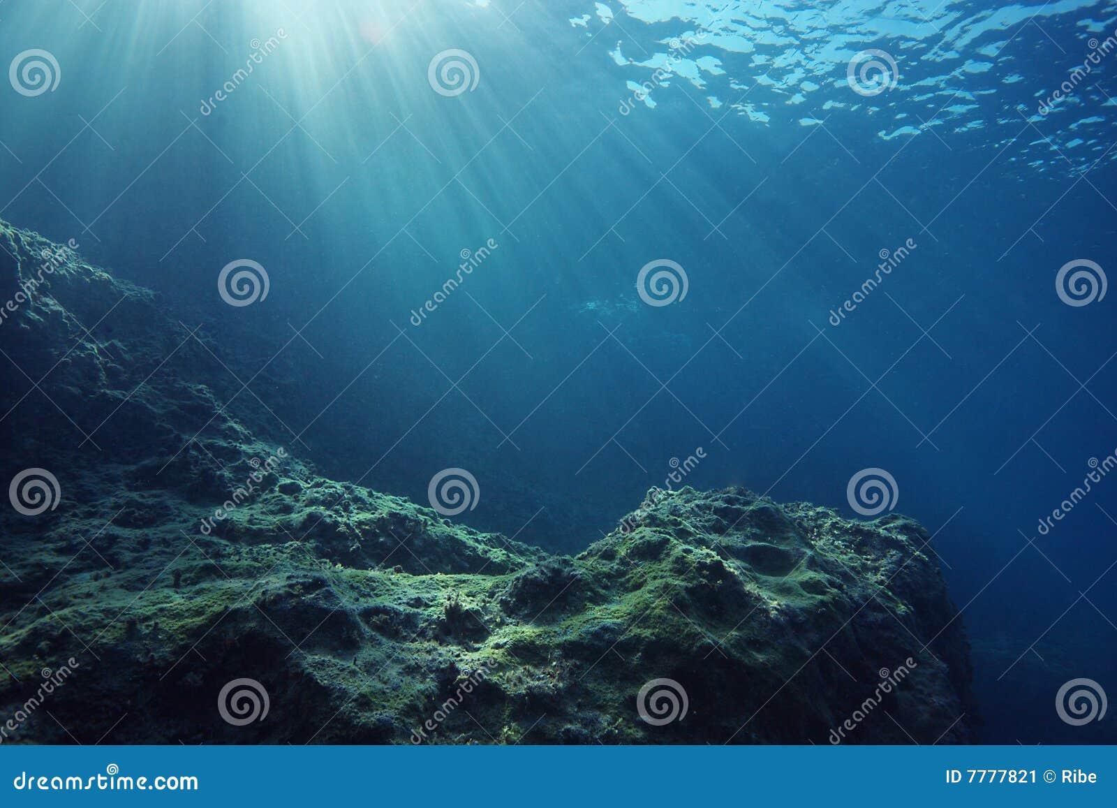 Sunrays ландшафта подводные