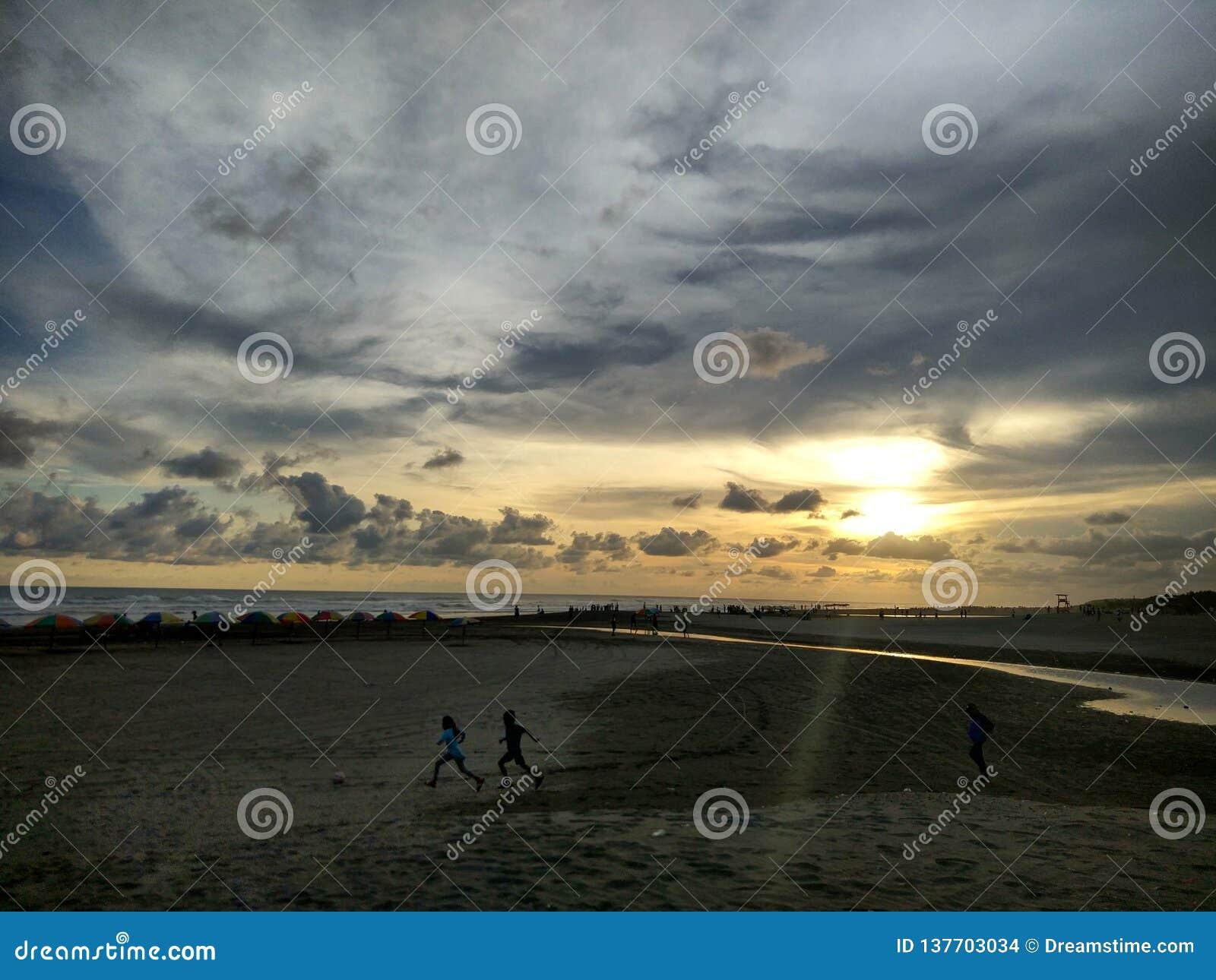 Sunrise at Amal Beach Tarakan City, Indonesia