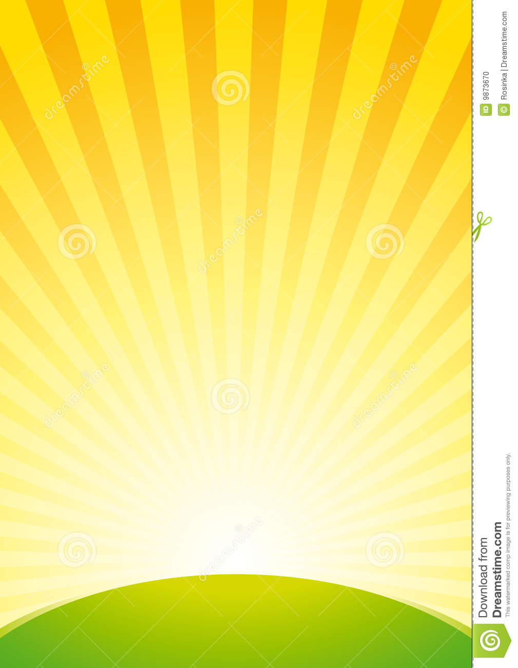 sunrise background stock vector image of green rays