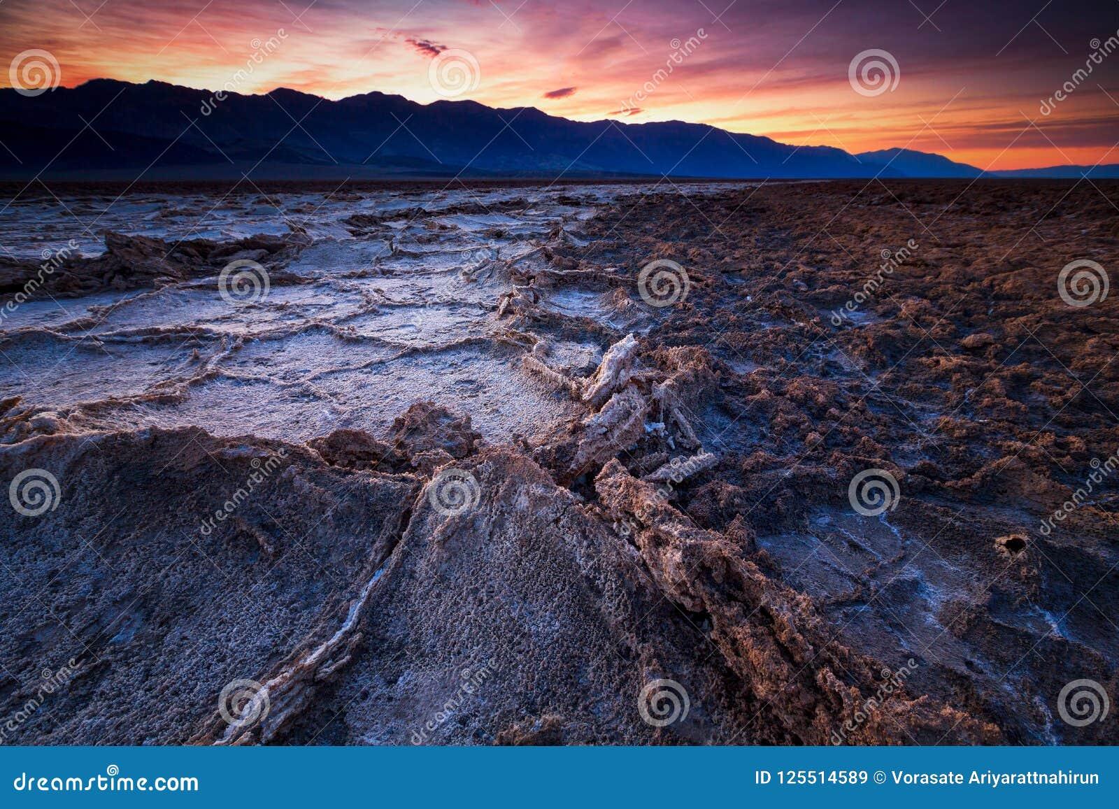 Badwater basin, Death Valley, California, USA.