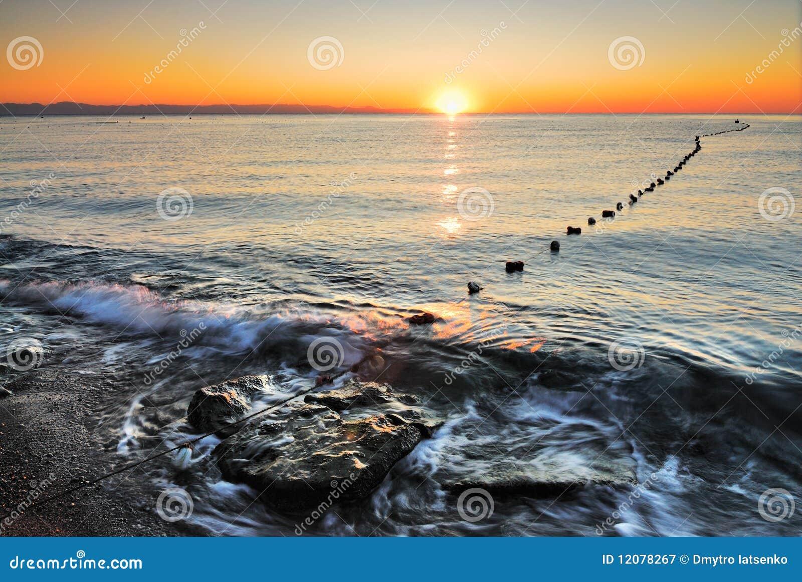 Sunrise on the beach. Turkey. Kemer. Antalya