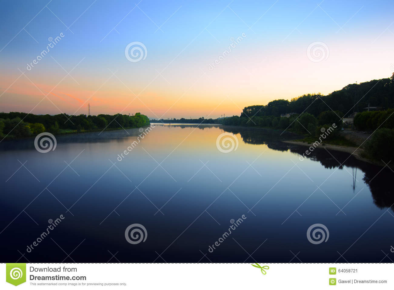 sunrise is coming over the saone river next villefranche sur saone france stock photo image. Black Bedroom Furniture Sets. Home Design Ideas