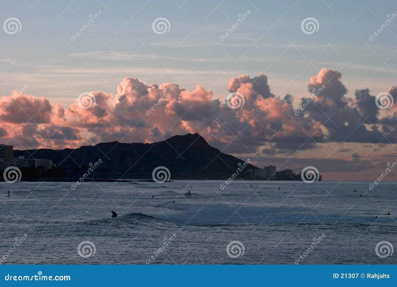 Sunrise at Diamond Head