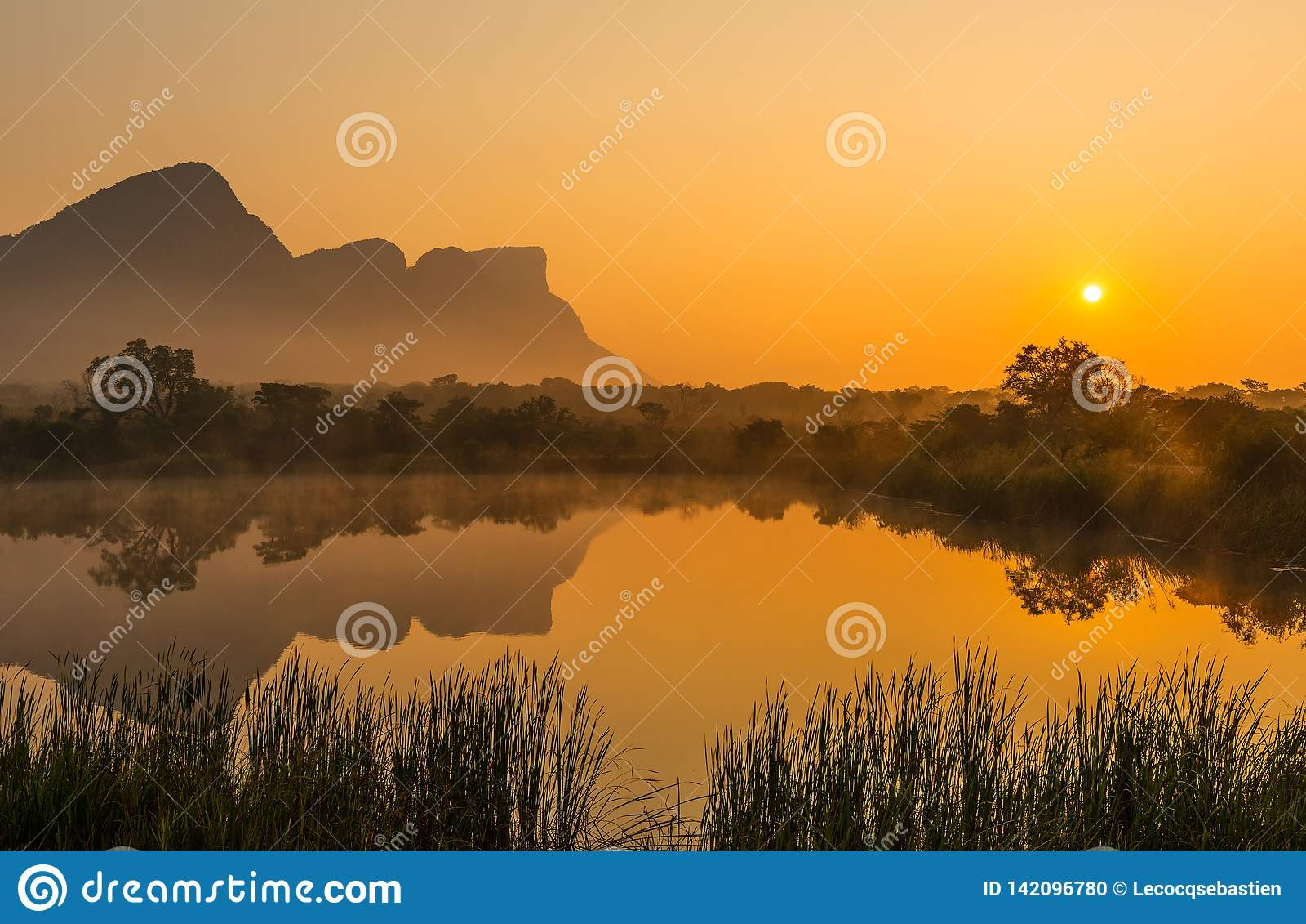 Sunrise in the Entabeni Safari Game Reserve, South Africa