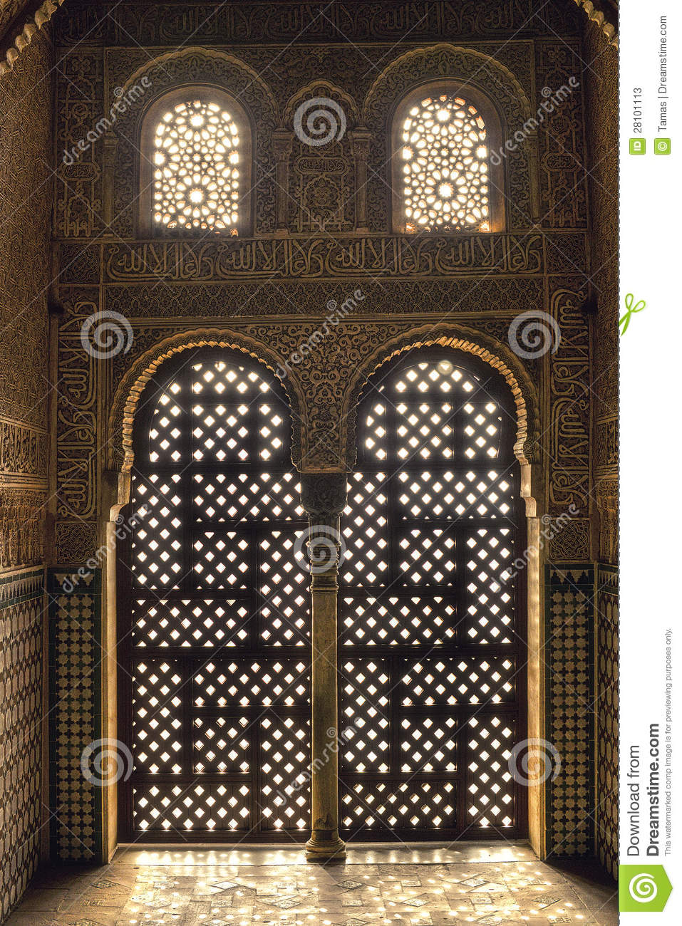 Sunrise At The Harem Alhambra Spain Stock Image Image Of