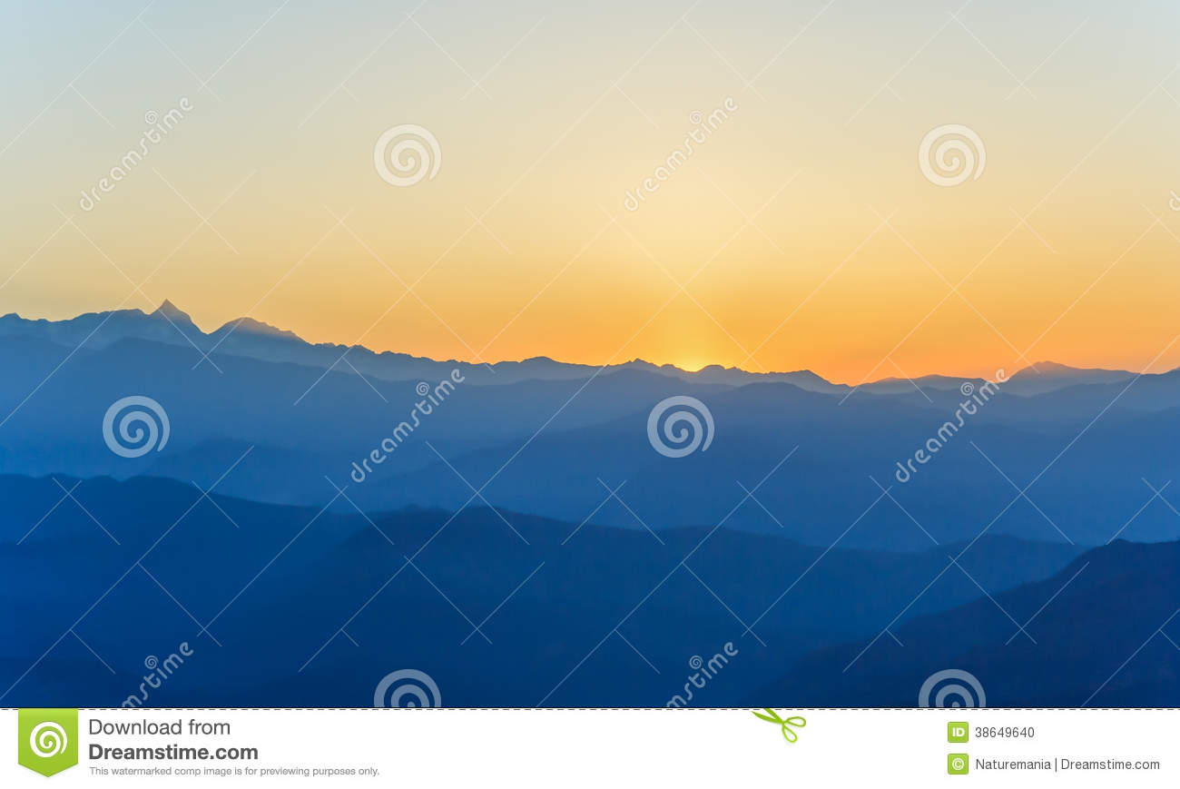 Sunrise at Himalaya range