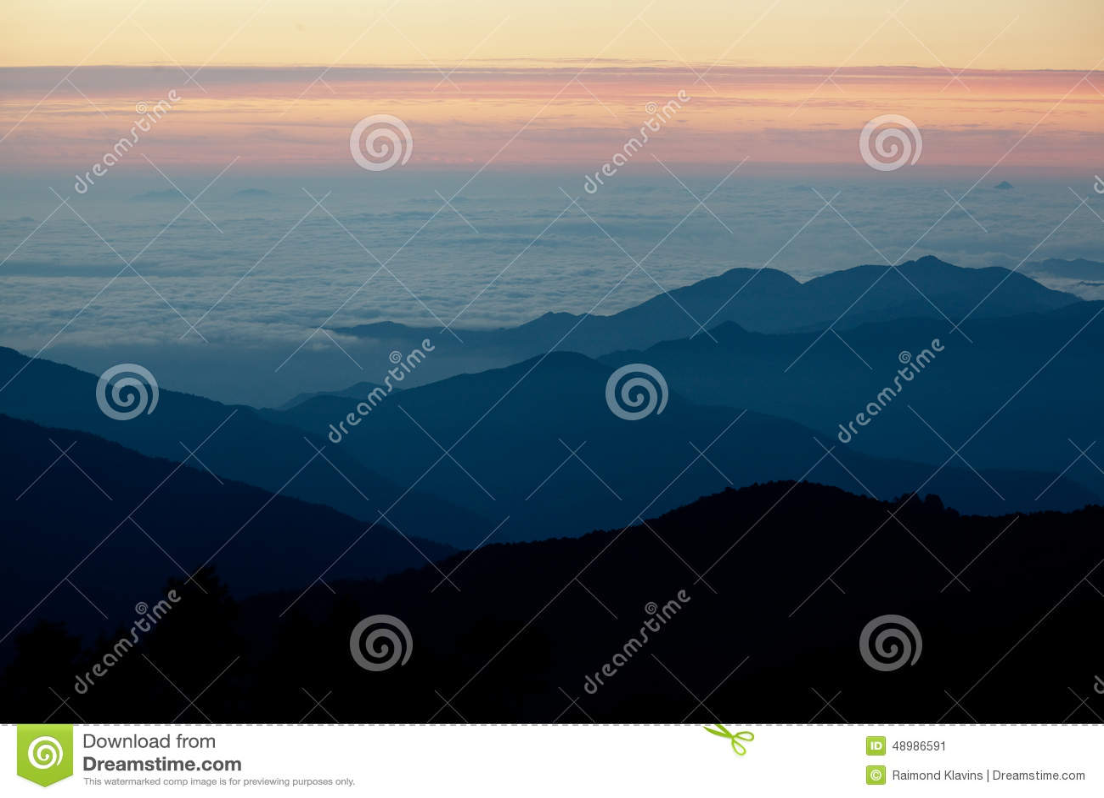 Sunrise in Himalayas mountain NEPAL