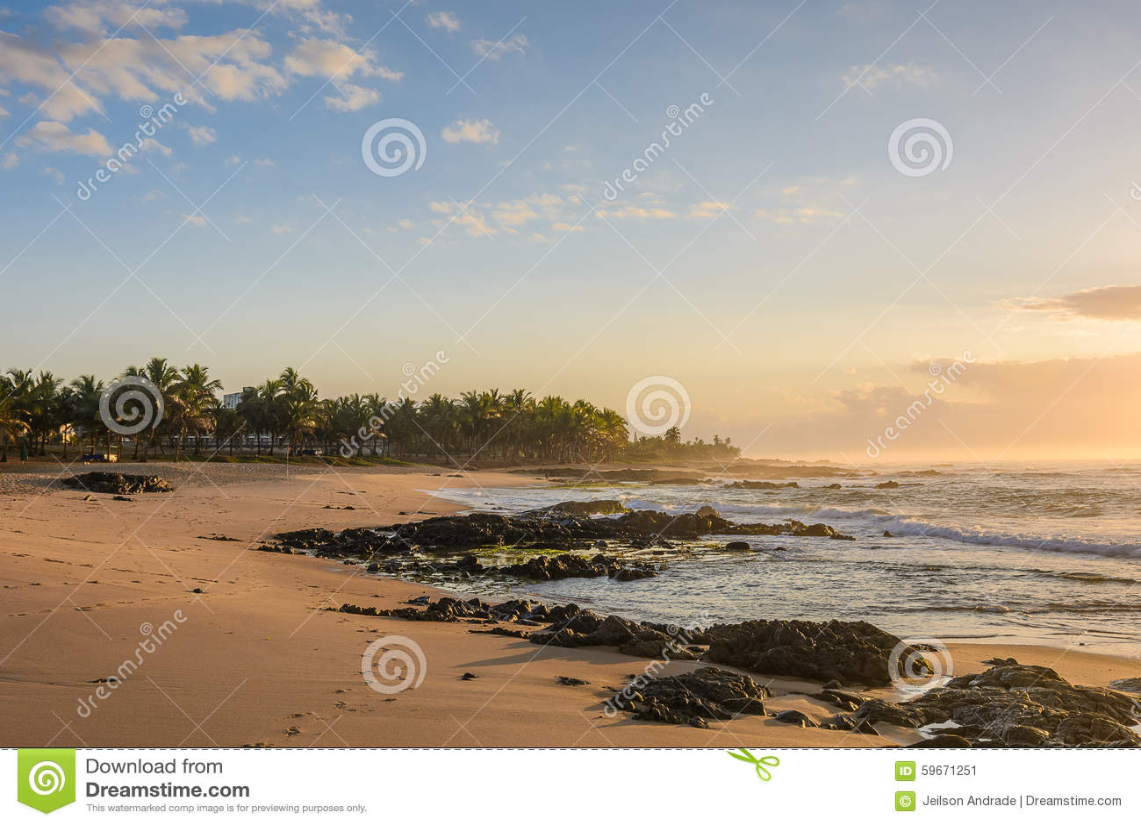 Sunrise in Itapuã Beach - Salvador - Bahia - Brazil