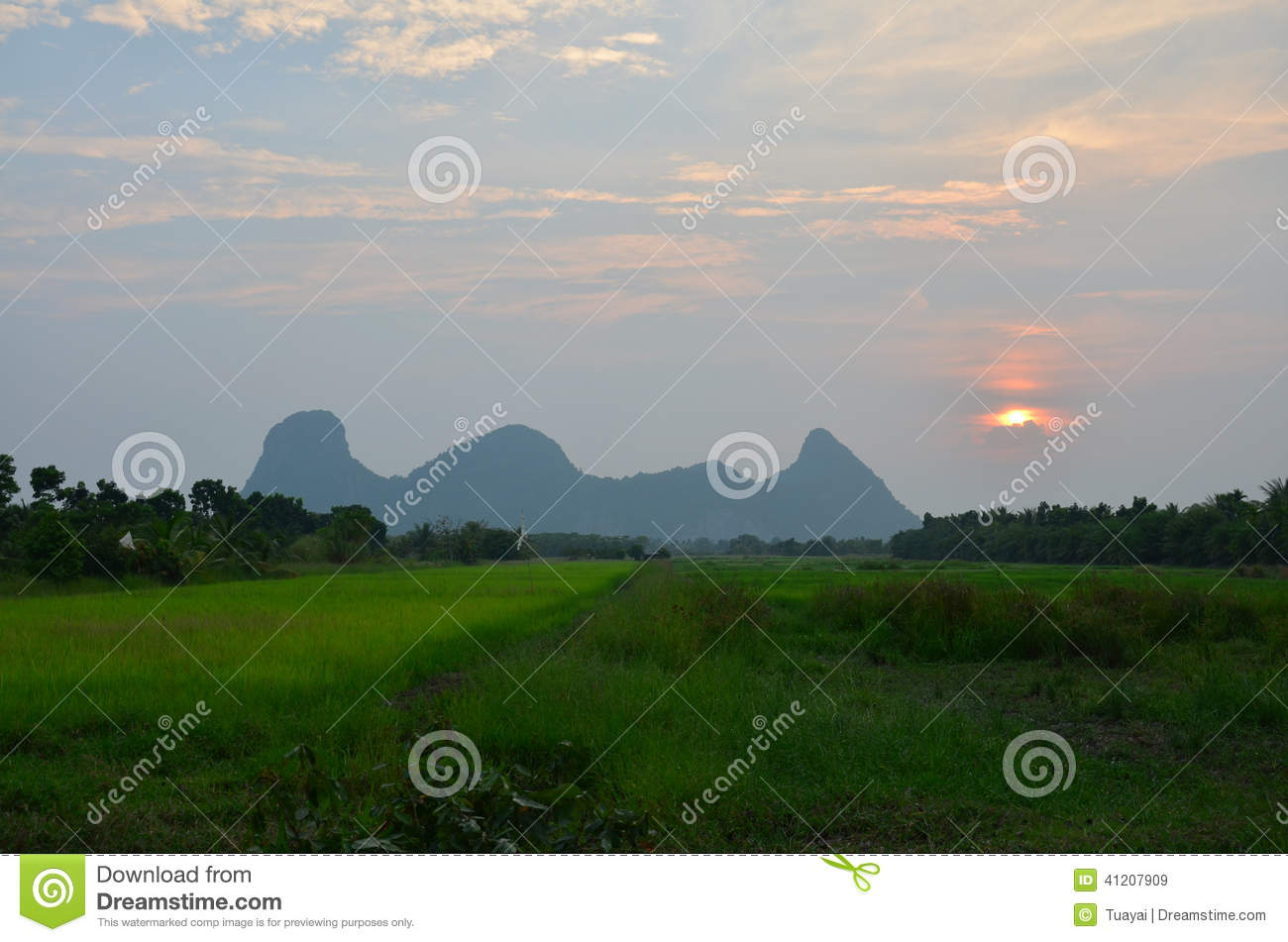 Sunrise At Mountain Name Khao Oktalu In Phatthalung ...