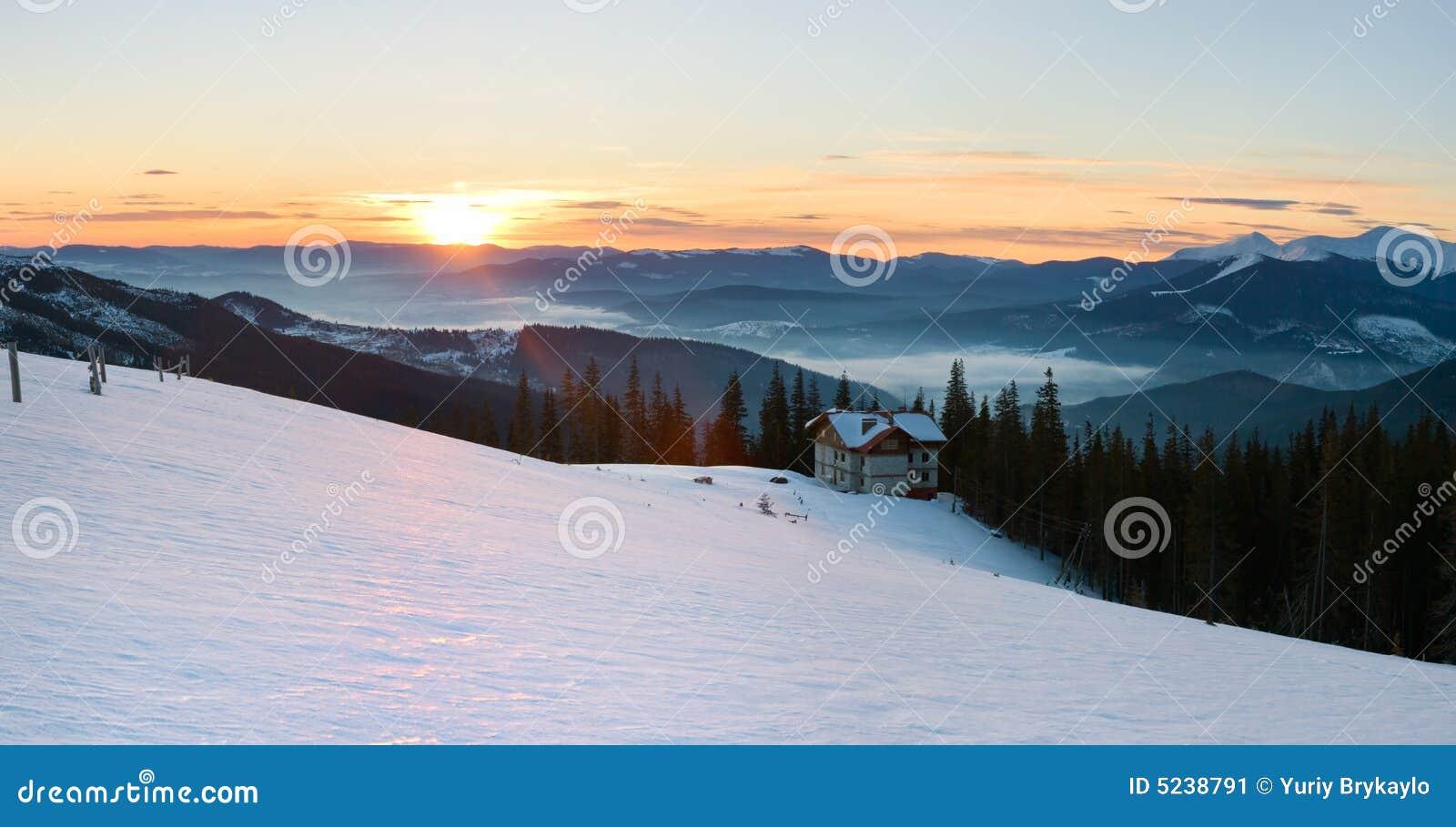 sunrise mountain panorama stock image. image of footprint - 5238791