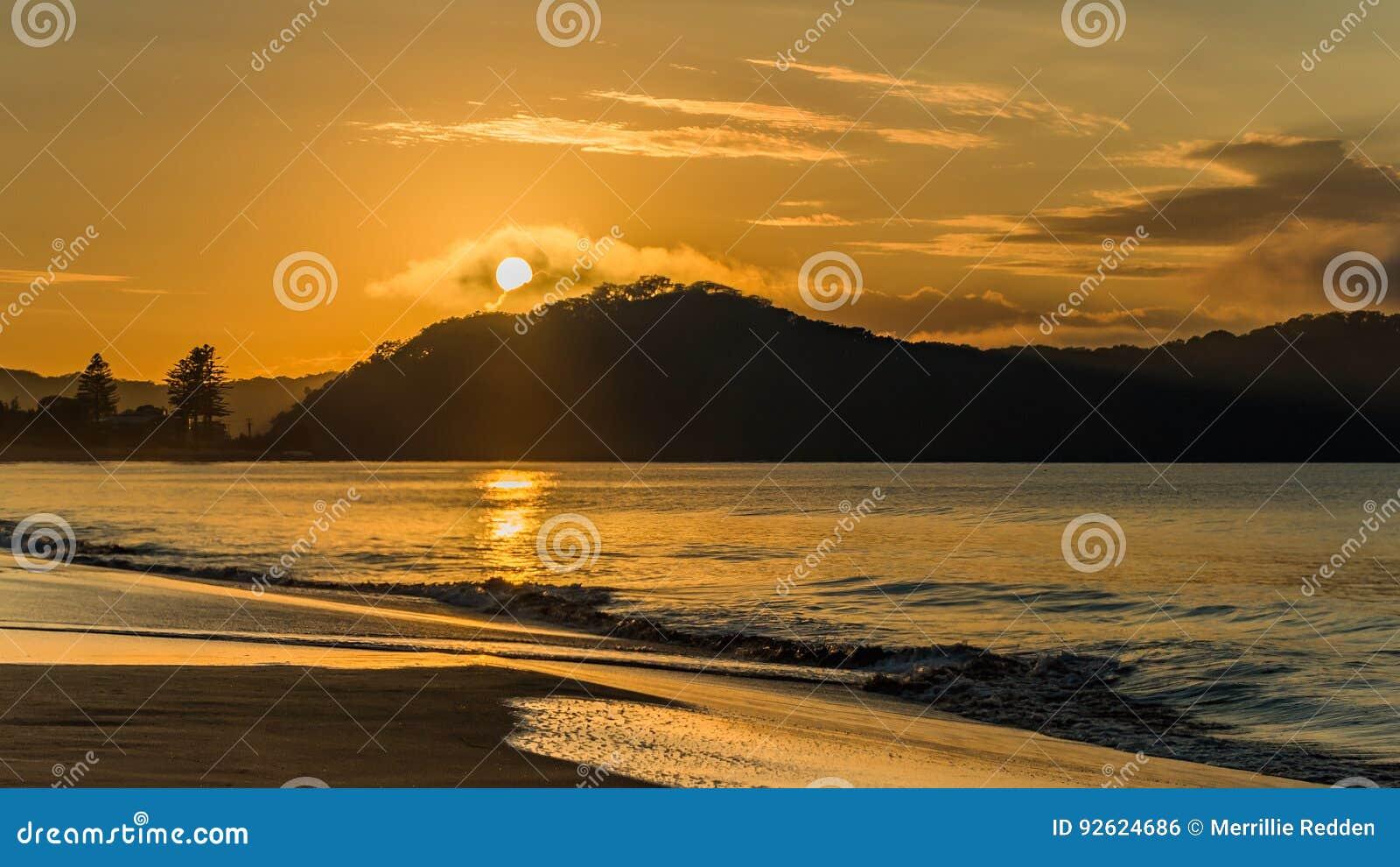Sunrise Mountain Seascape