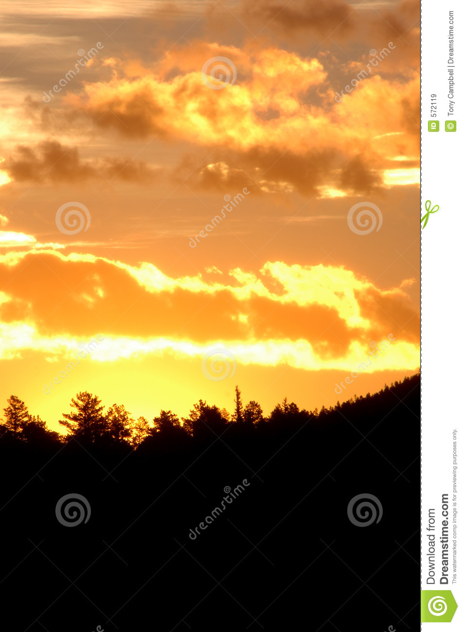 Sunrise in the mountain (vertical)