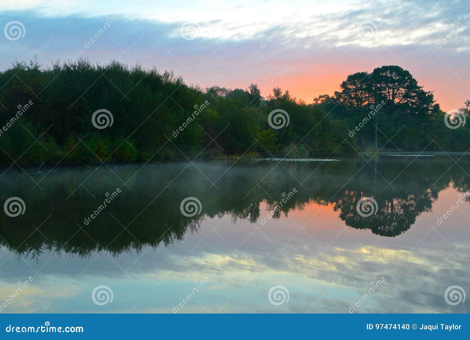 Sunrise at the Ornamental Pond, Southampton