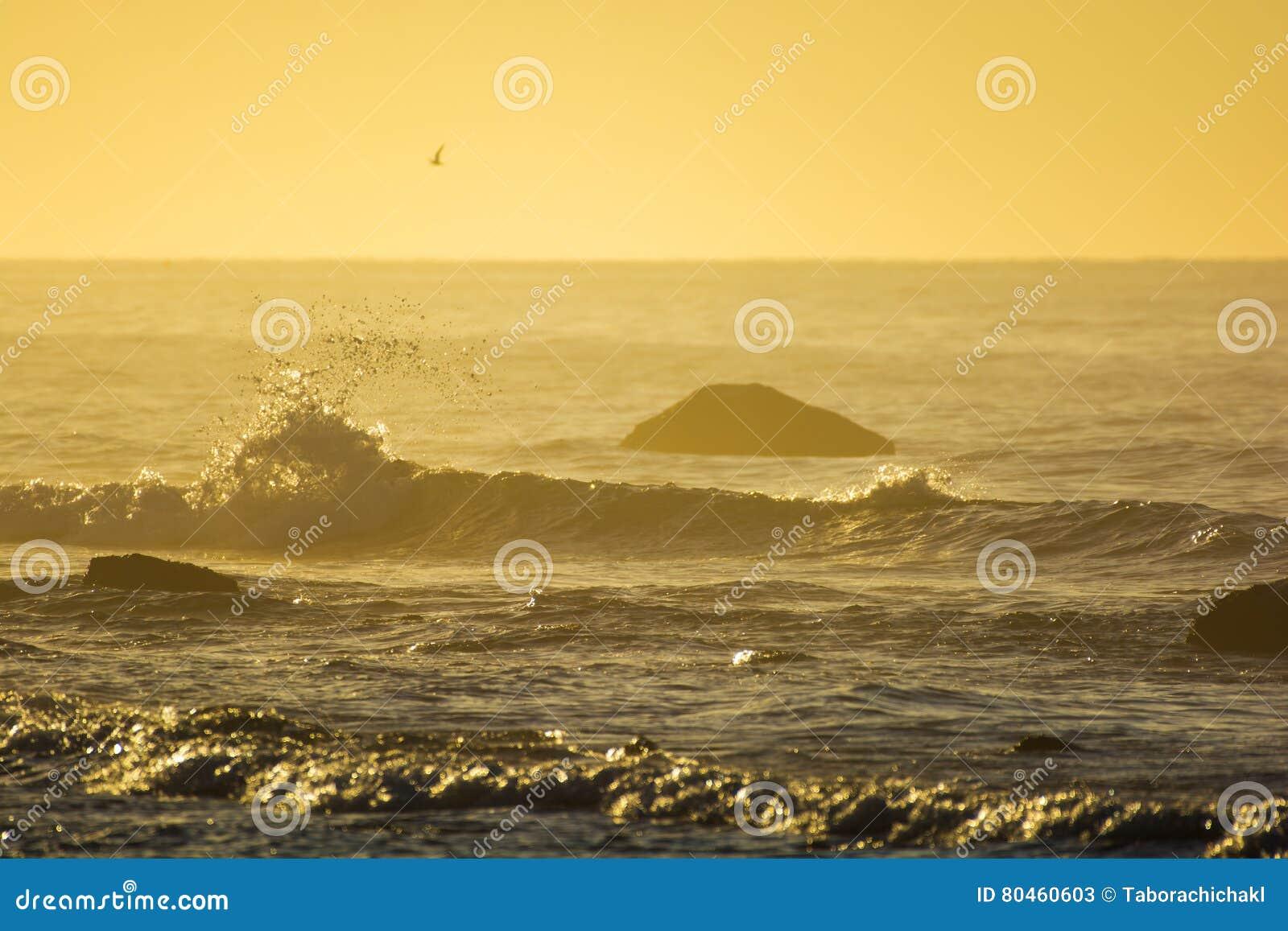 Sunrise Over The Atlantic Ocean In Long Island New York Stock Image