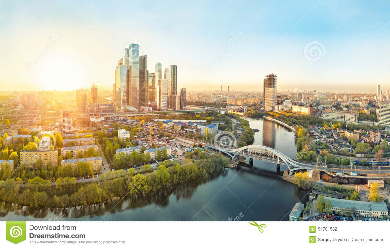 Sunrise over Moscow City