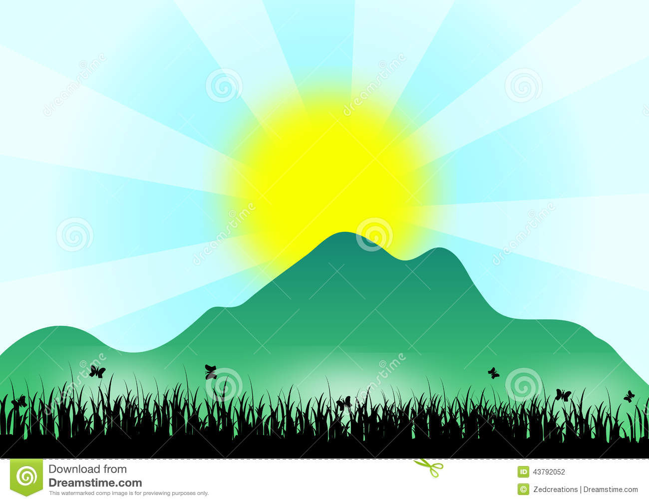 sunrise over mountain illustration 43792052 megapixl rh megapixl com Mountain Silhouette Clip Art Mountain Scene Clip Art
