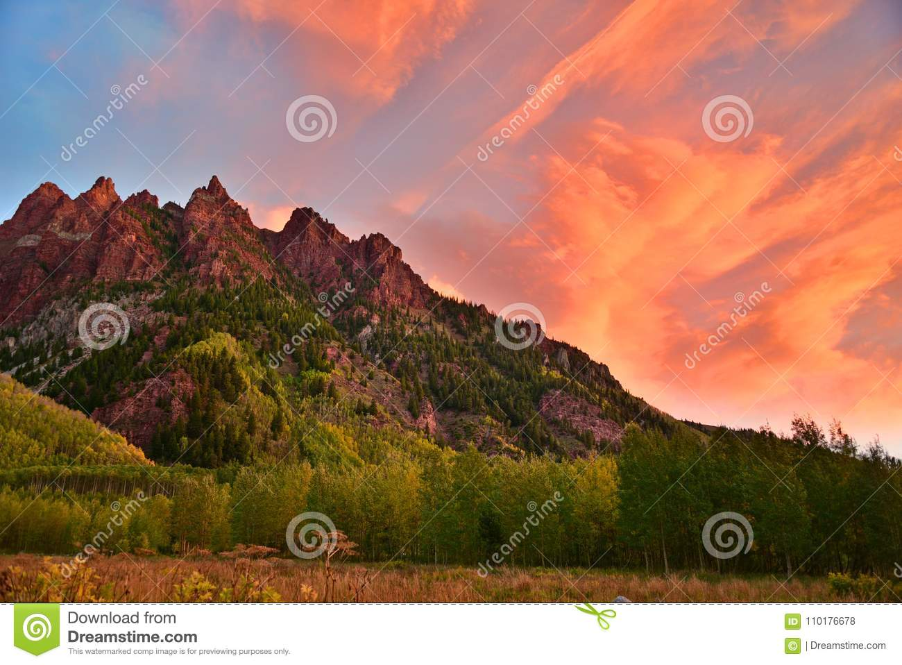 Image result for red mountain in sunrise