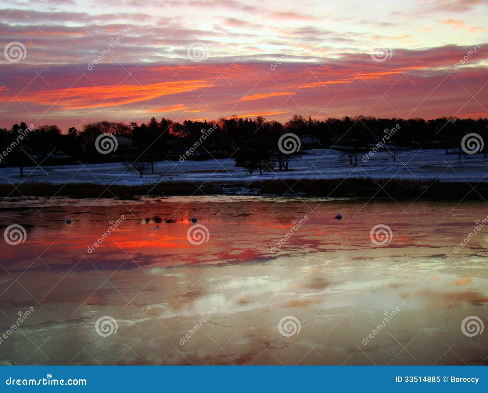 Sunrise over Southport Harbor, Connecticut
