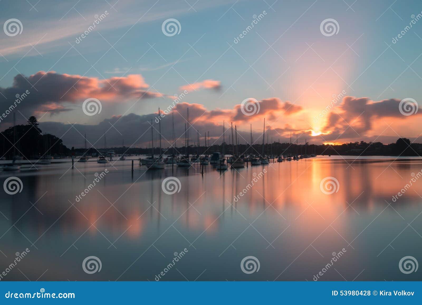 Sunrise, Rotary walkway, Auckland, New Zealand