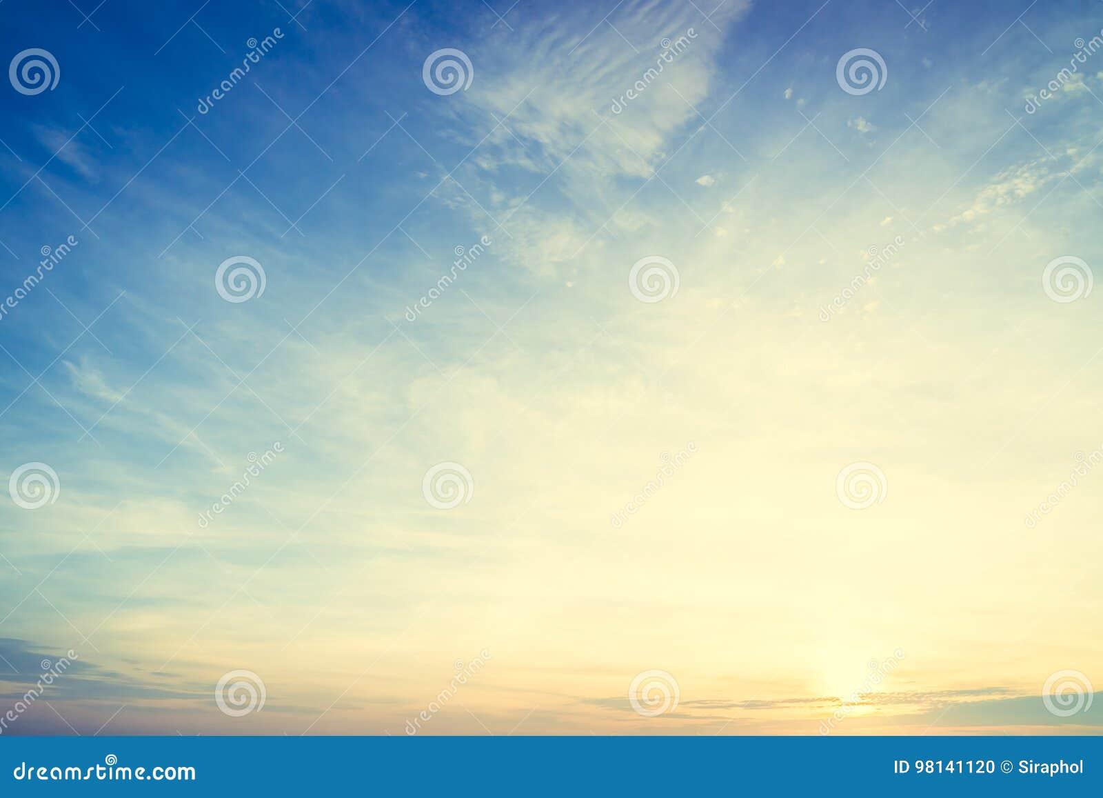 Sunrise and sky