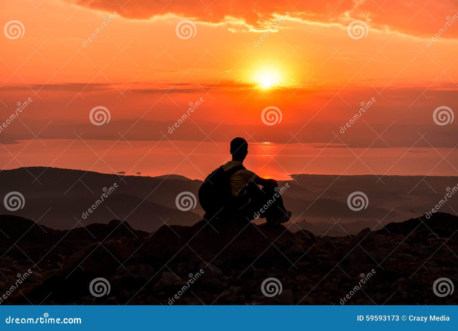 Sunrise At The Summit Of The Mountain Stock Image Image Of World