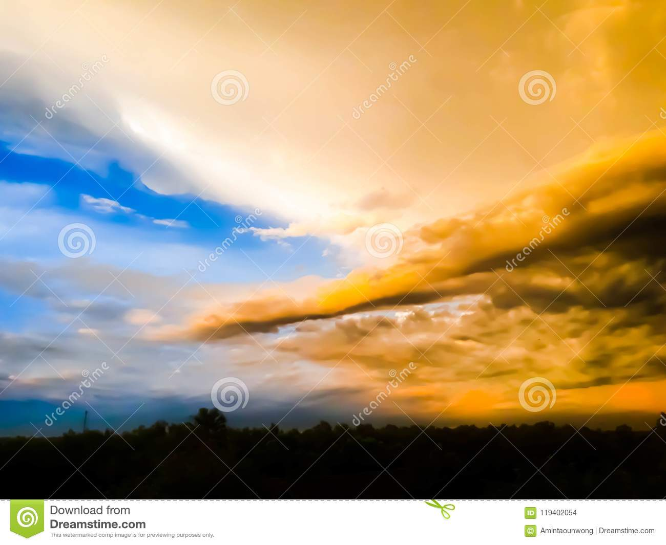 Sunrise And Sunset Mountain View Stock Photo Image Of Silhouette