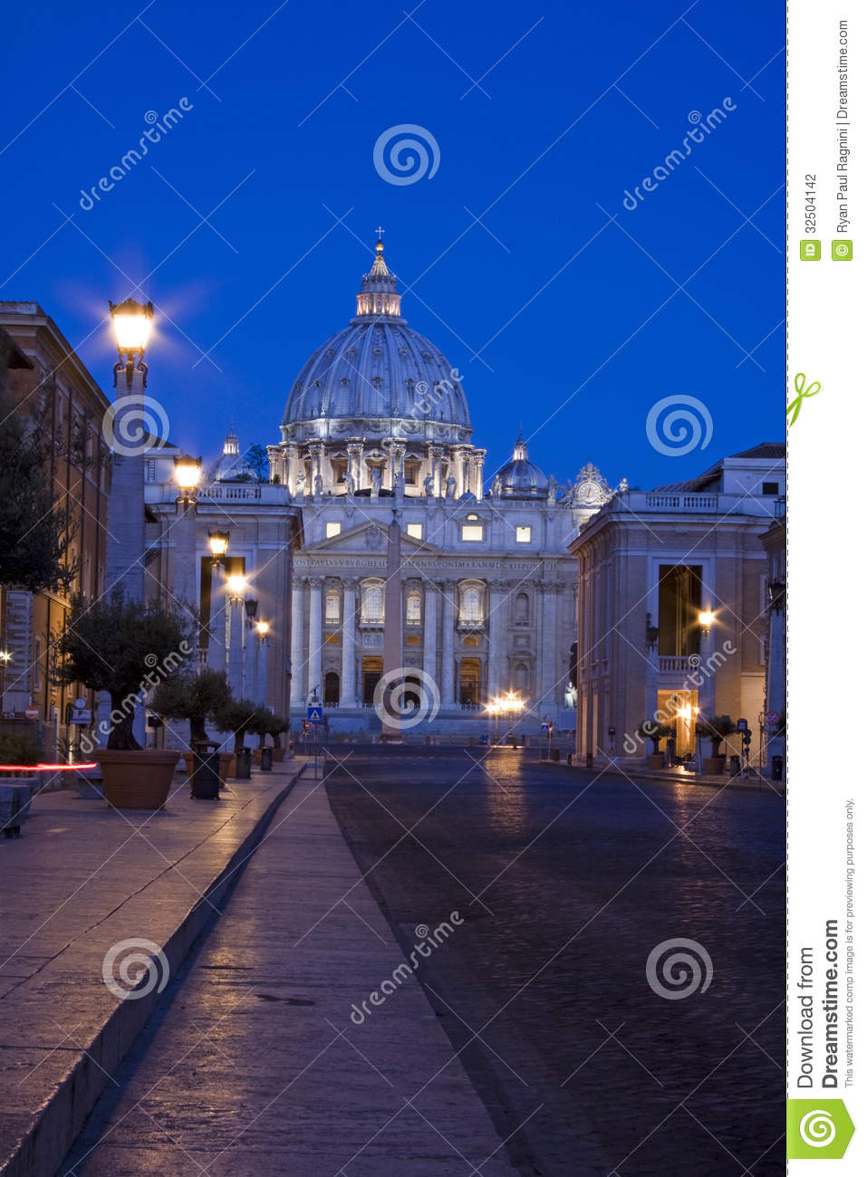 Sunrise And The Vatican City In Rome. Stock Photography