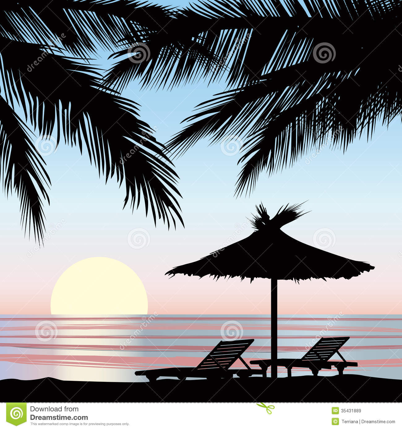 sunrise view at resort seaside holiday background stock. Black Bedroom Furniture Sets. Home Design Ideas