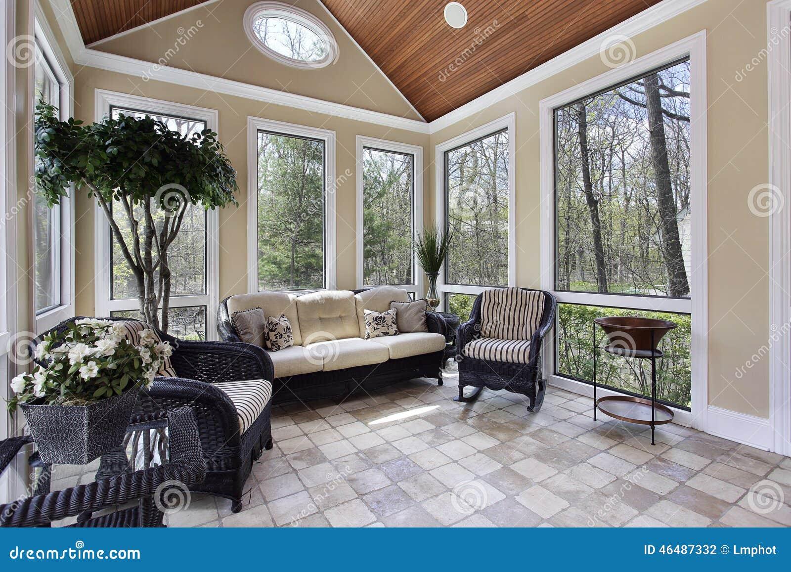 Sunroom nella casa di lusso