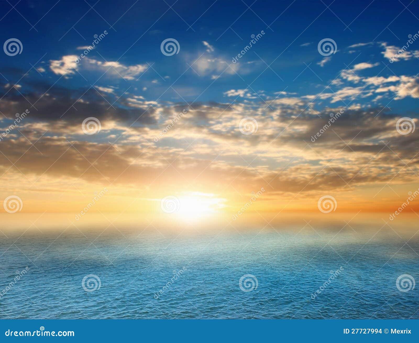 Sunsen in sea