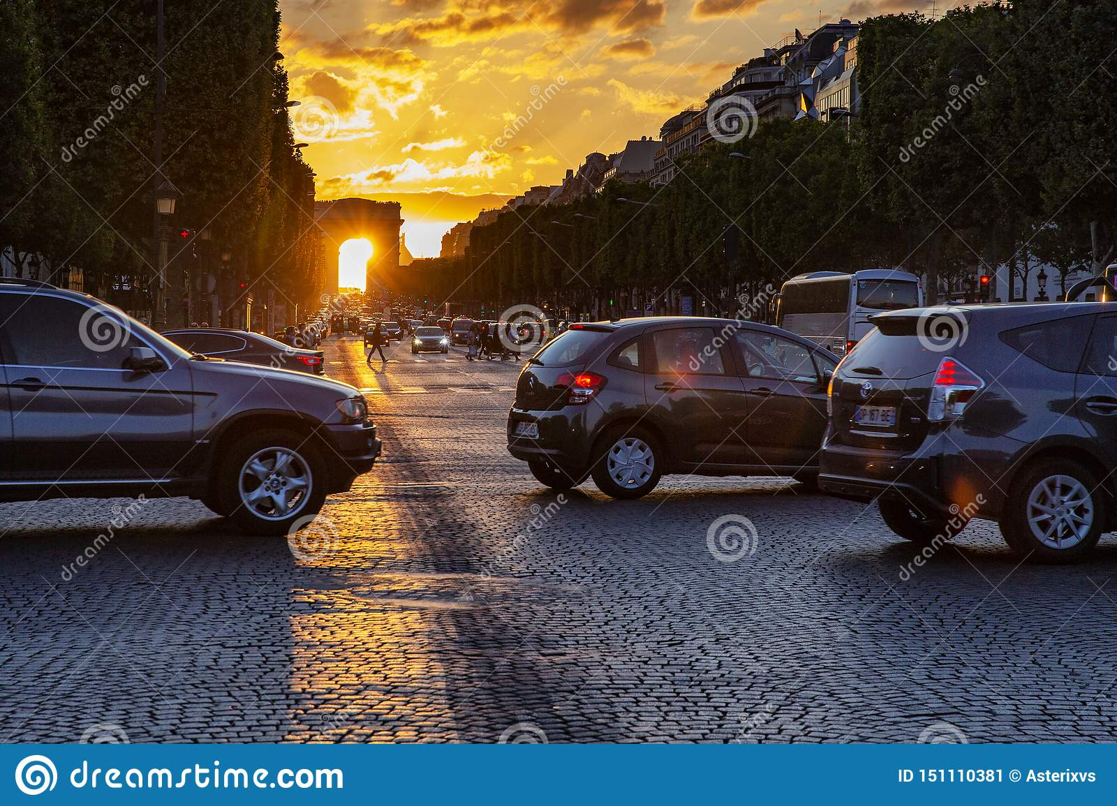 Sunset Champs Elysees