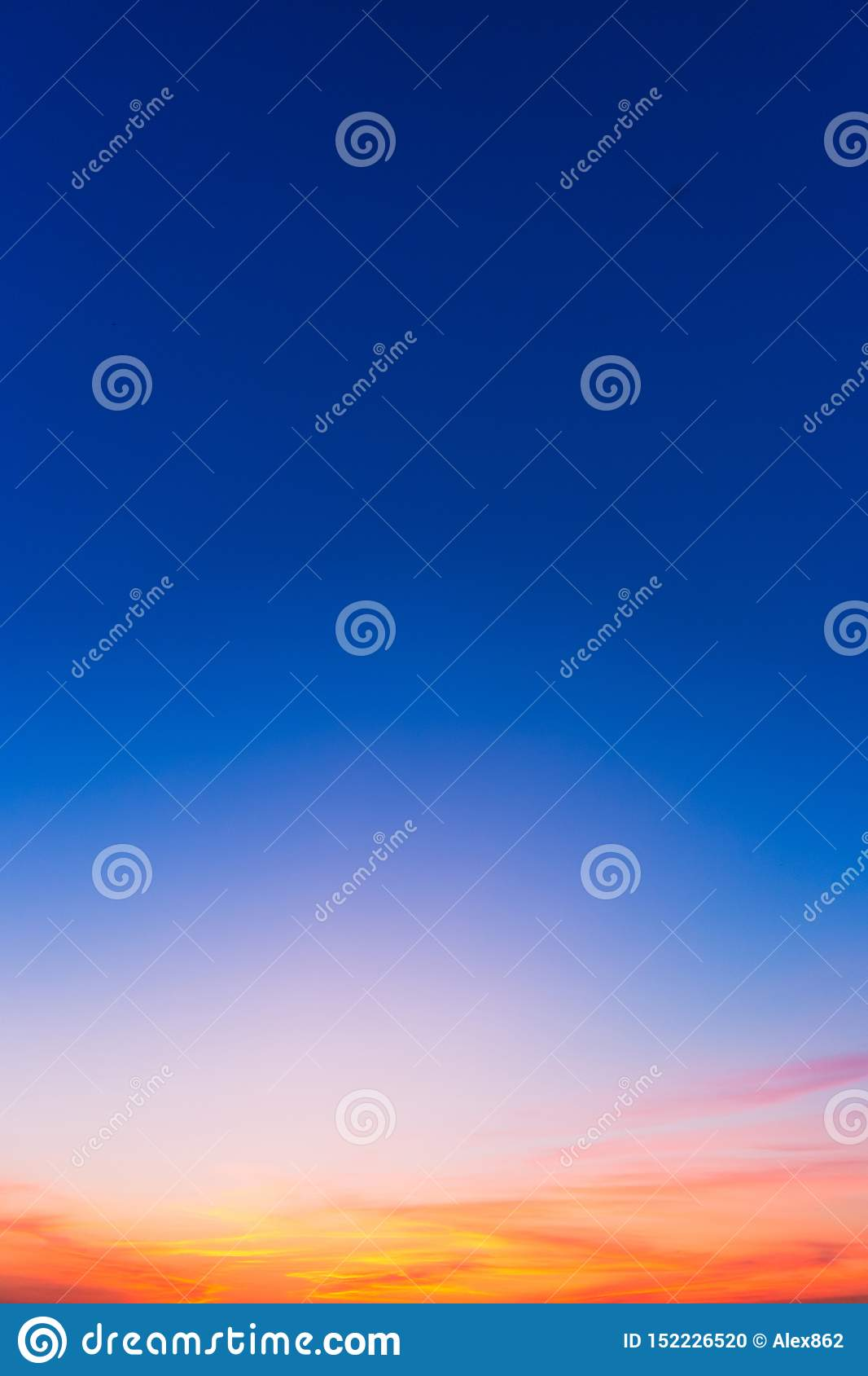 Sunset background with blue, red and yellow colors