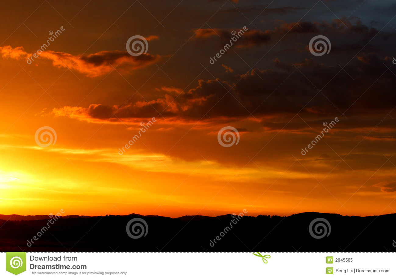 Sunset backgrounds on the mountains