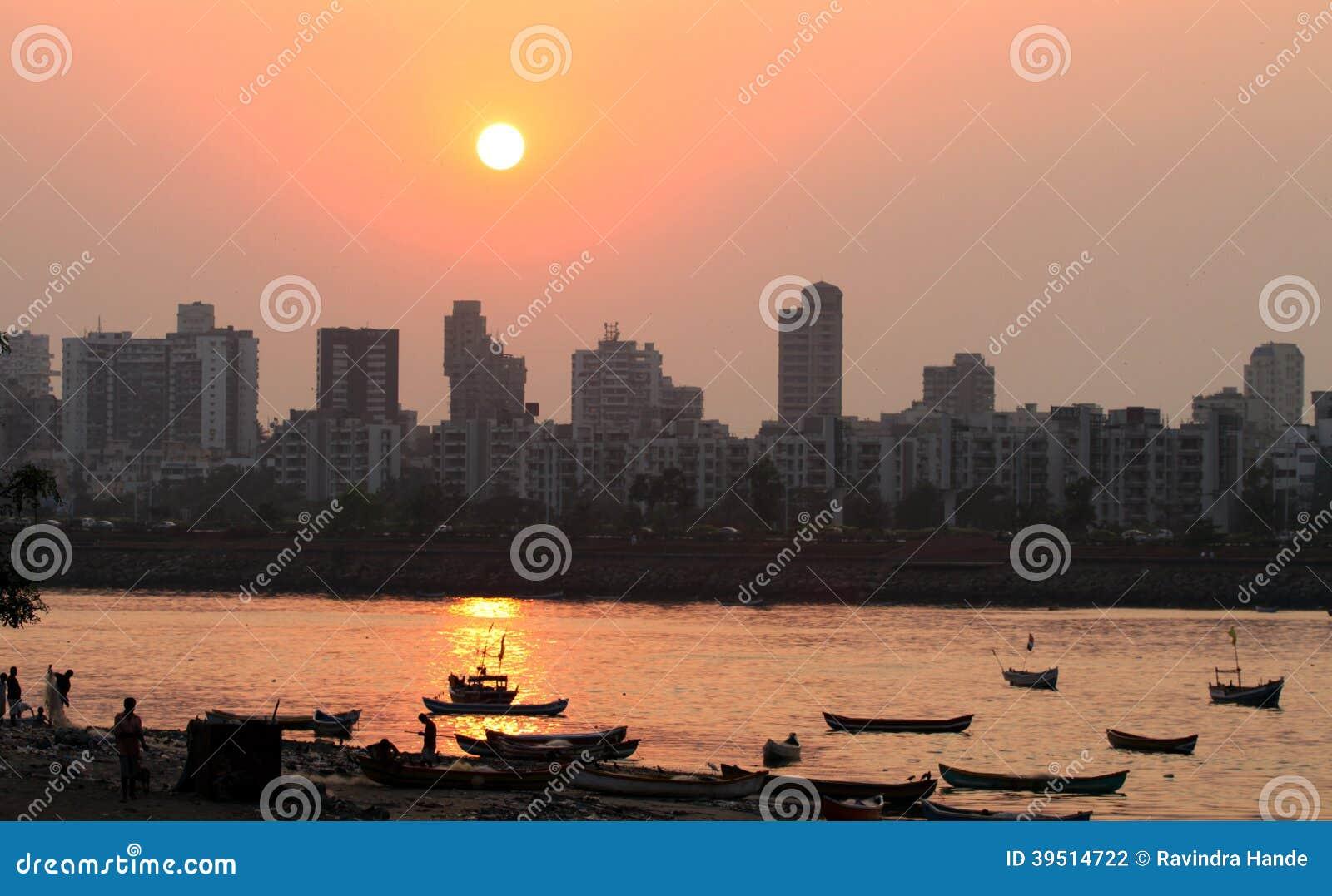 Sunset at Bandra in Mumbai