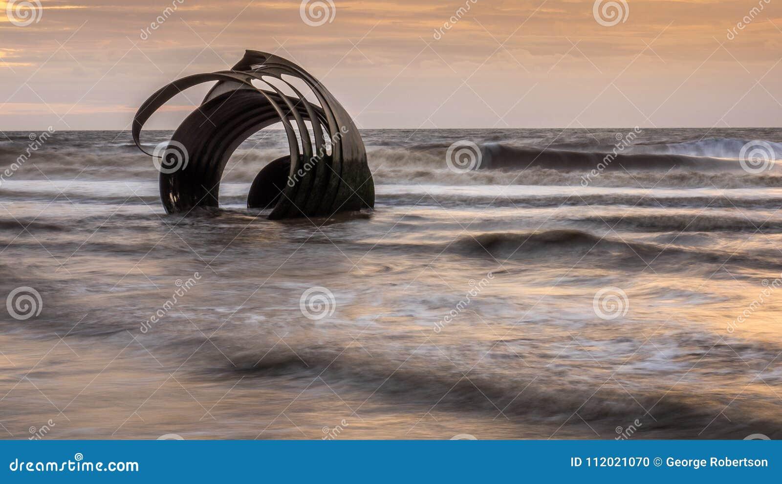Marys Shell on Cleveleys beach, England