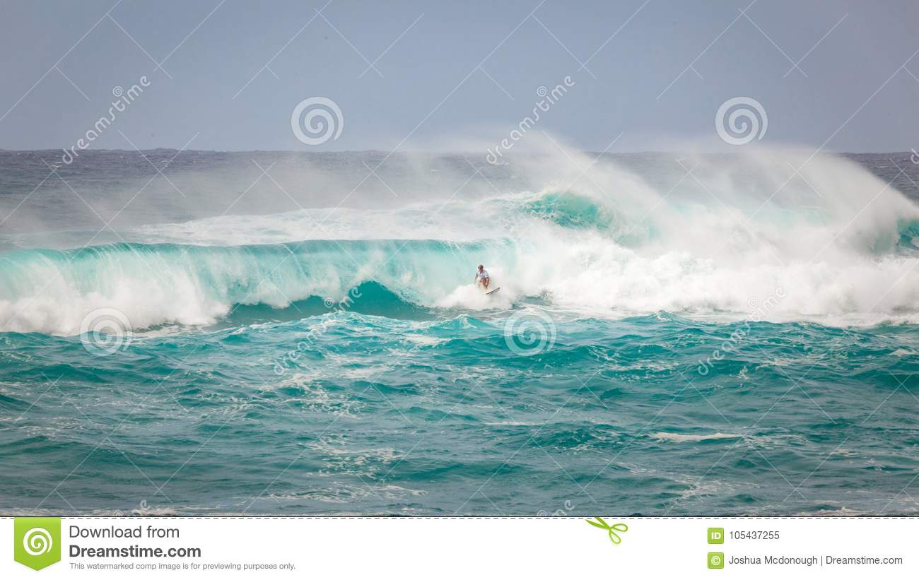 a34a26971e4e60 Pro Surfer Sunset Beach Hawaii Editorial Image - Image of break ...