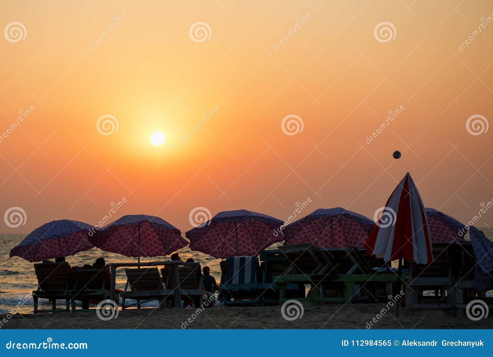 Sunset at the beach at koh chang,