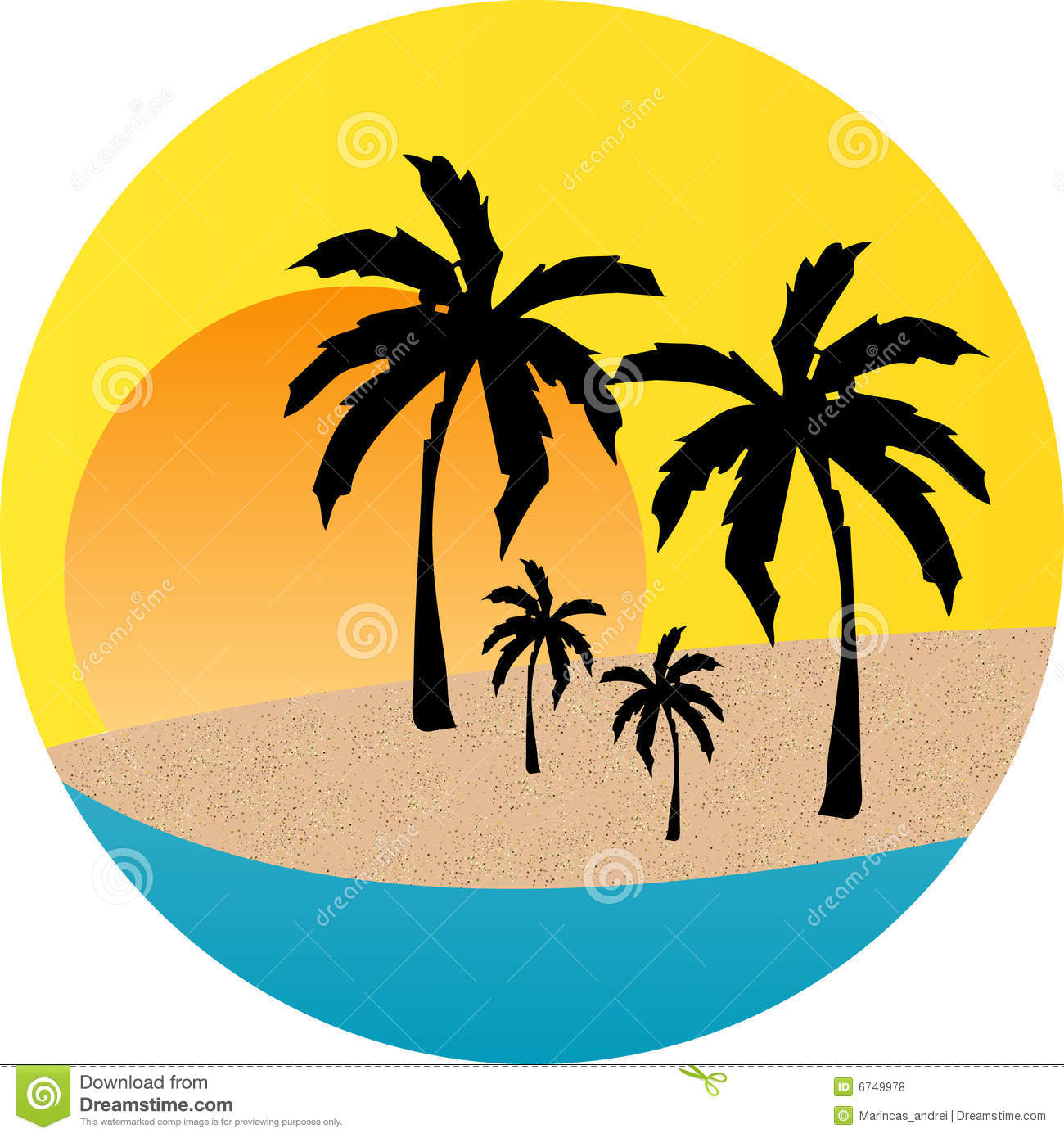 sunset beach label stock vector illustration of tropical 6749978 rh dreamstime com free sunset clipart images palm tree sunset clipart free