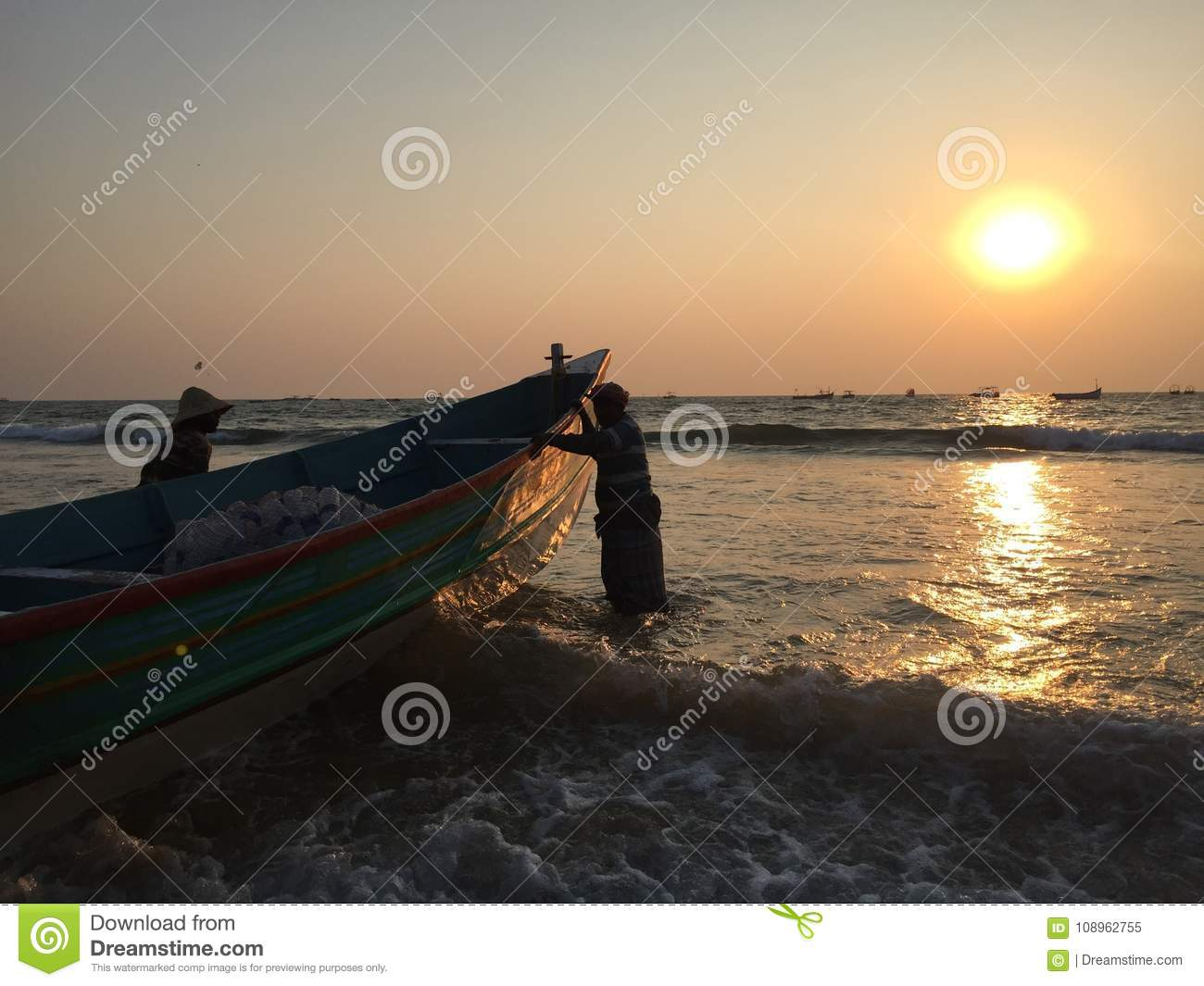 Sunset On A Beach In North Goa Editorial Image Image Of