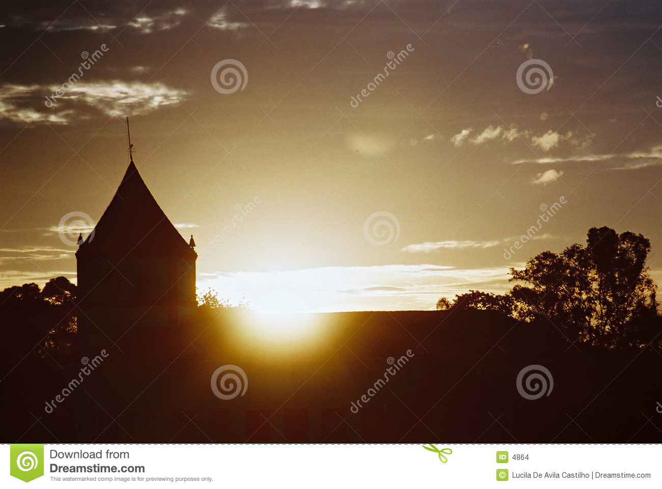 Sunset behind the church