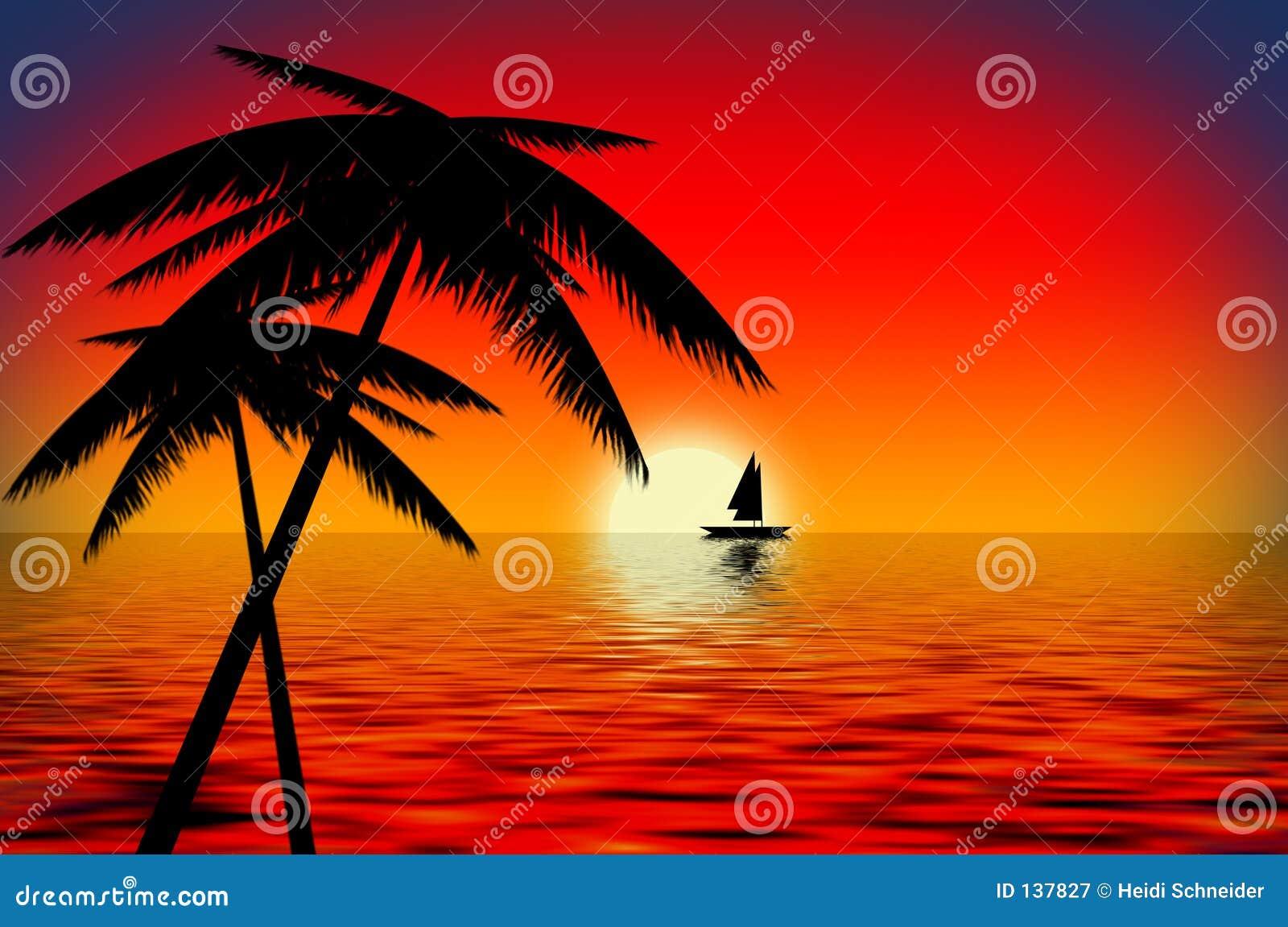 Sunset Boat Royalty Free Stock Photography Image 137827