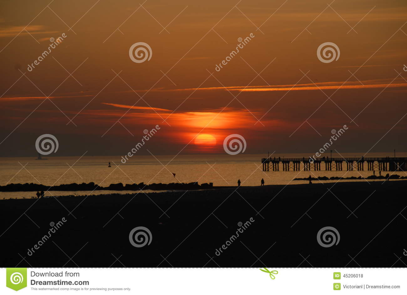 Sunset from Brighton Beach, New York City