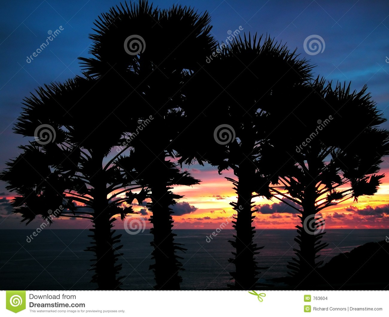 Sunset At Cape Promthep, Phuket, Thailand Stock Images ...
