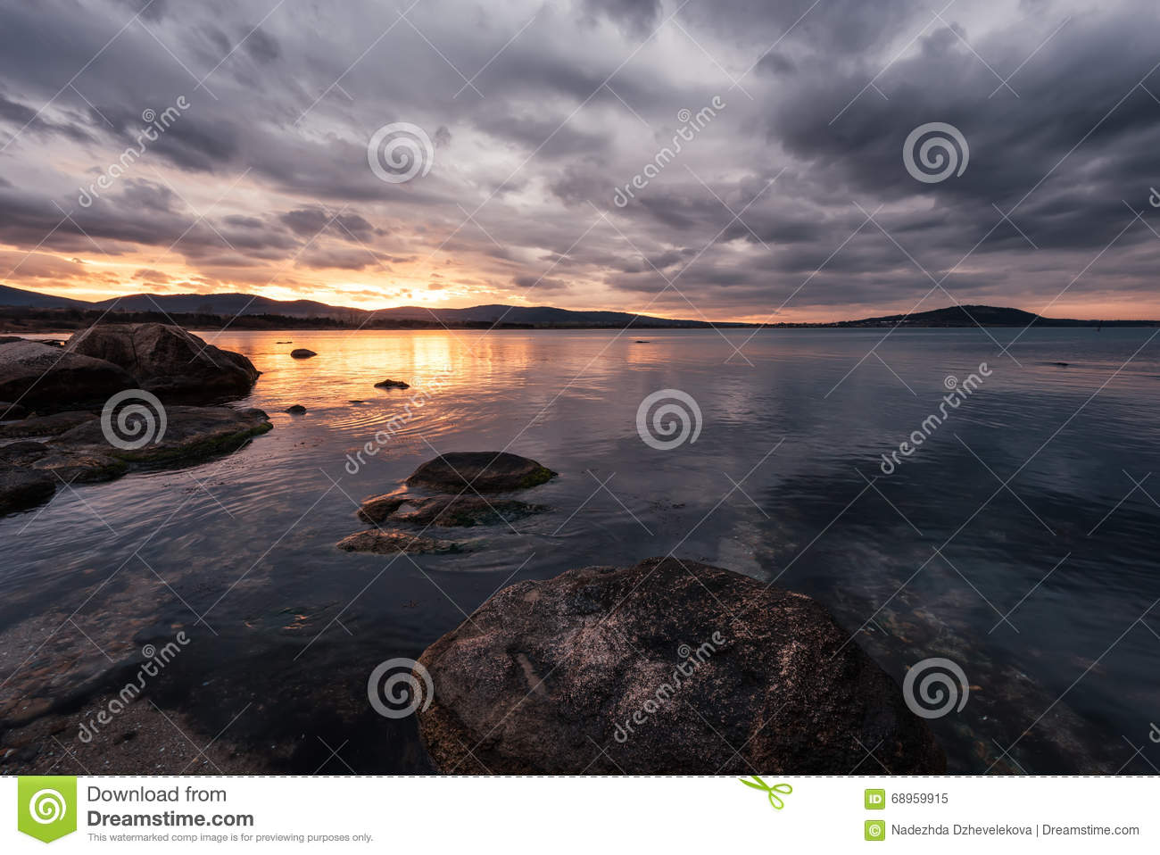 Chernomorets Bulgaria  city pictures gallery : Sunset In Chernomorets, Near Burgas, Bulgaria. Stock Photo Image ...