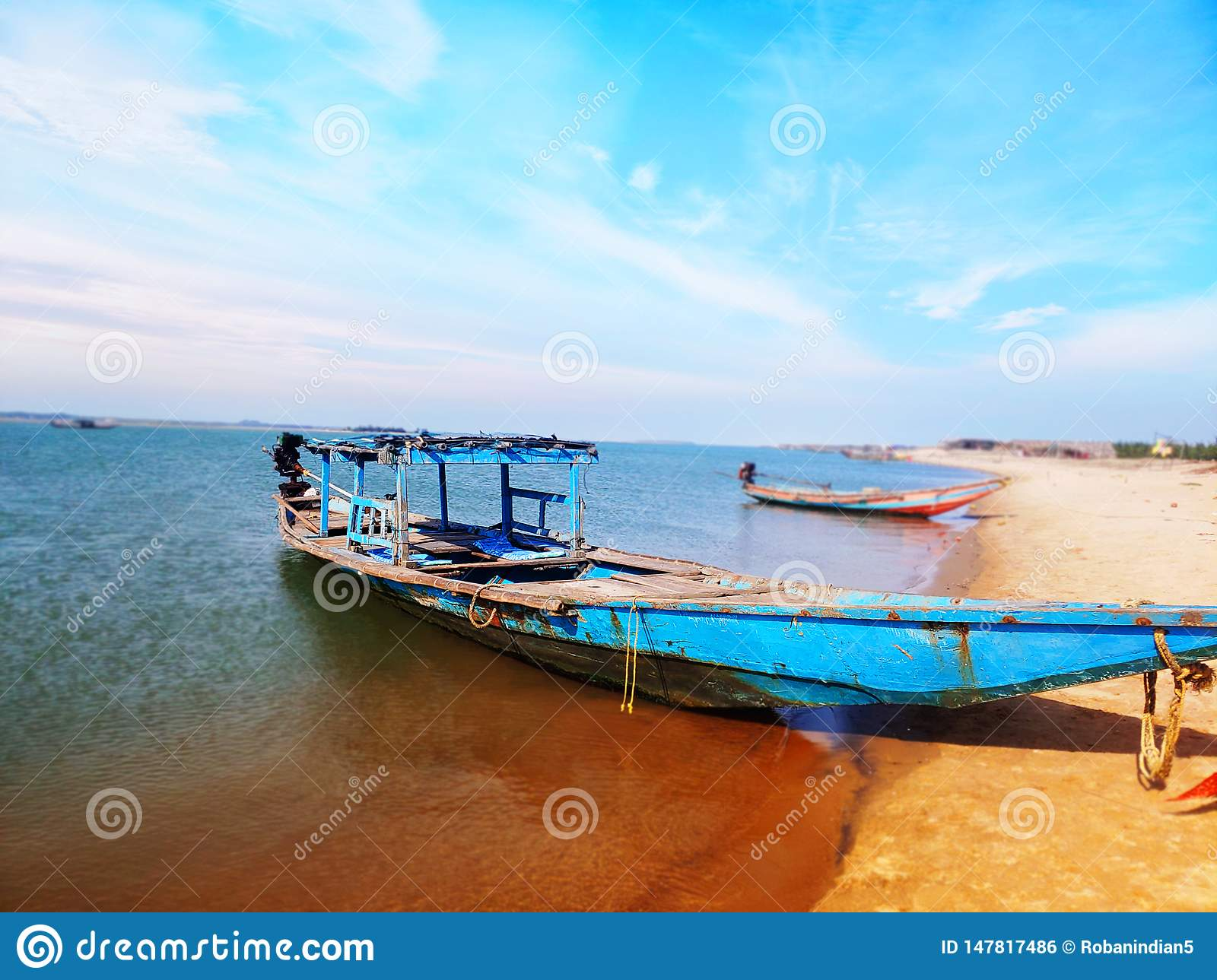 Sunset At Chilika Lake Puri Odisha India Stock Photo - Image of east