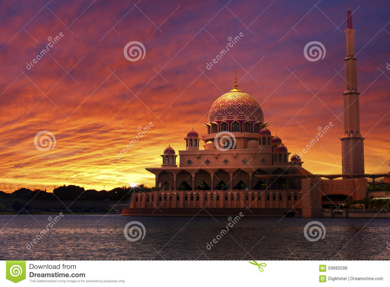 Sunset at the Classic Mosque