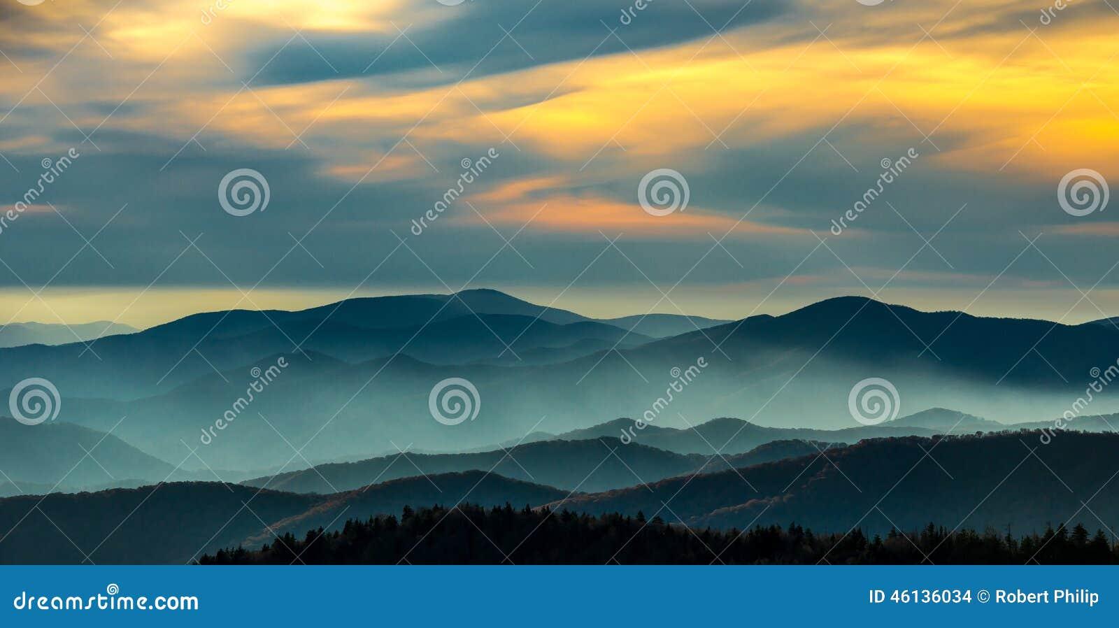 Sunset Great Smoky Mountain National Park
