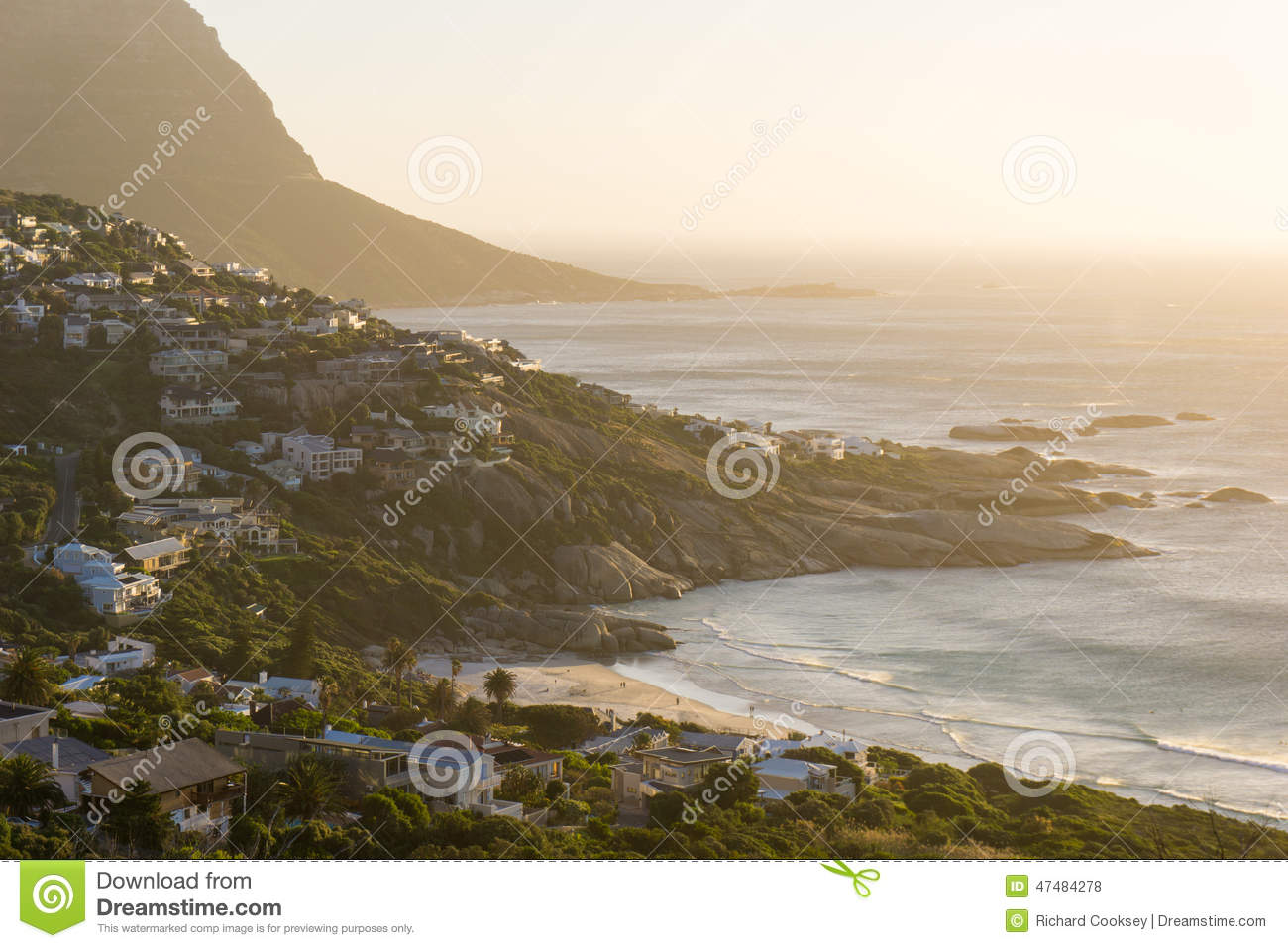 Sunset coast landscape stock photo image 47484278 for Landscaping rocks cape town