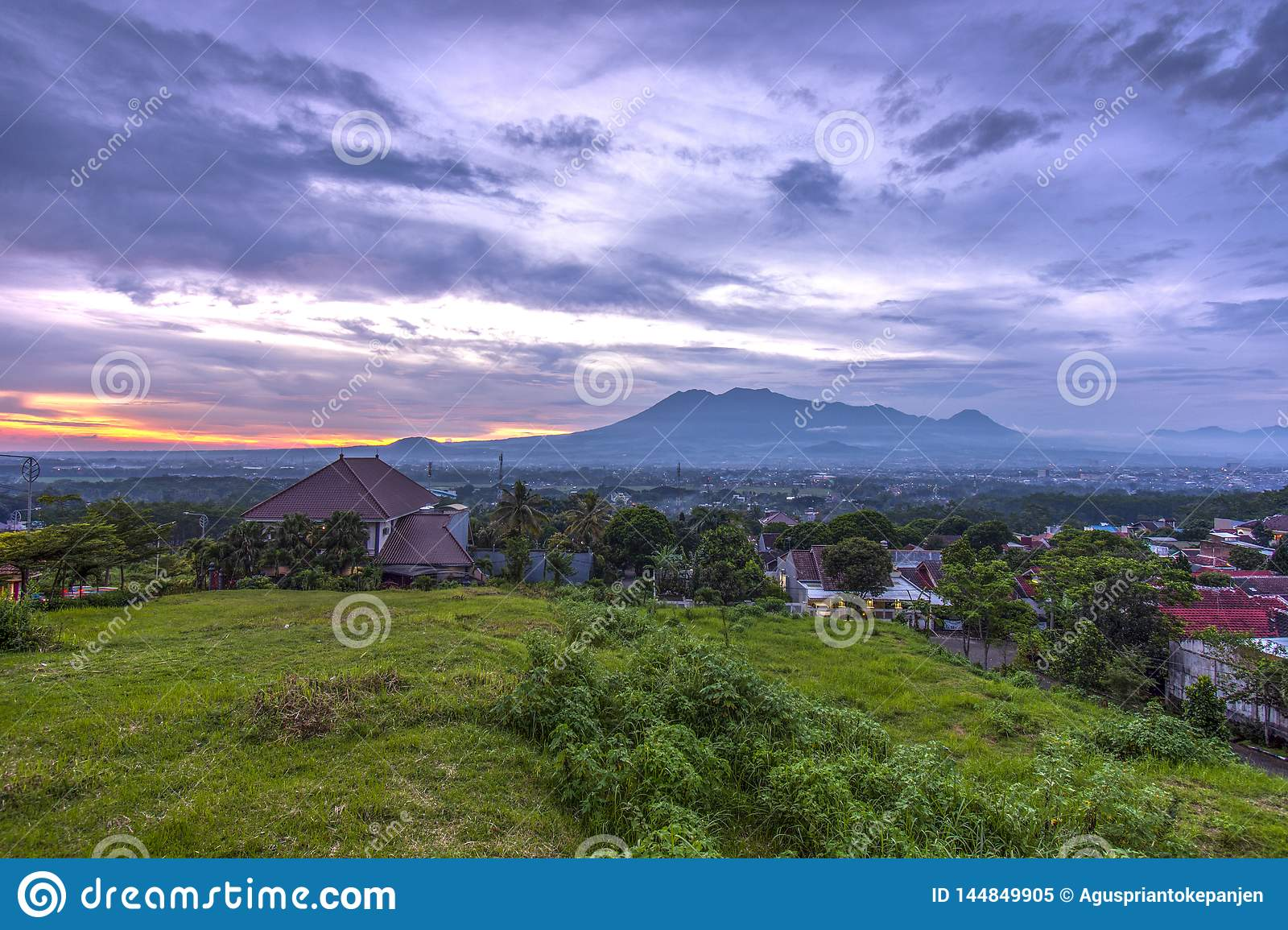 Sunset With Views Of Malang Java City Of Indonesia Stock Image Image Of Freshness Indonesia 144849905
