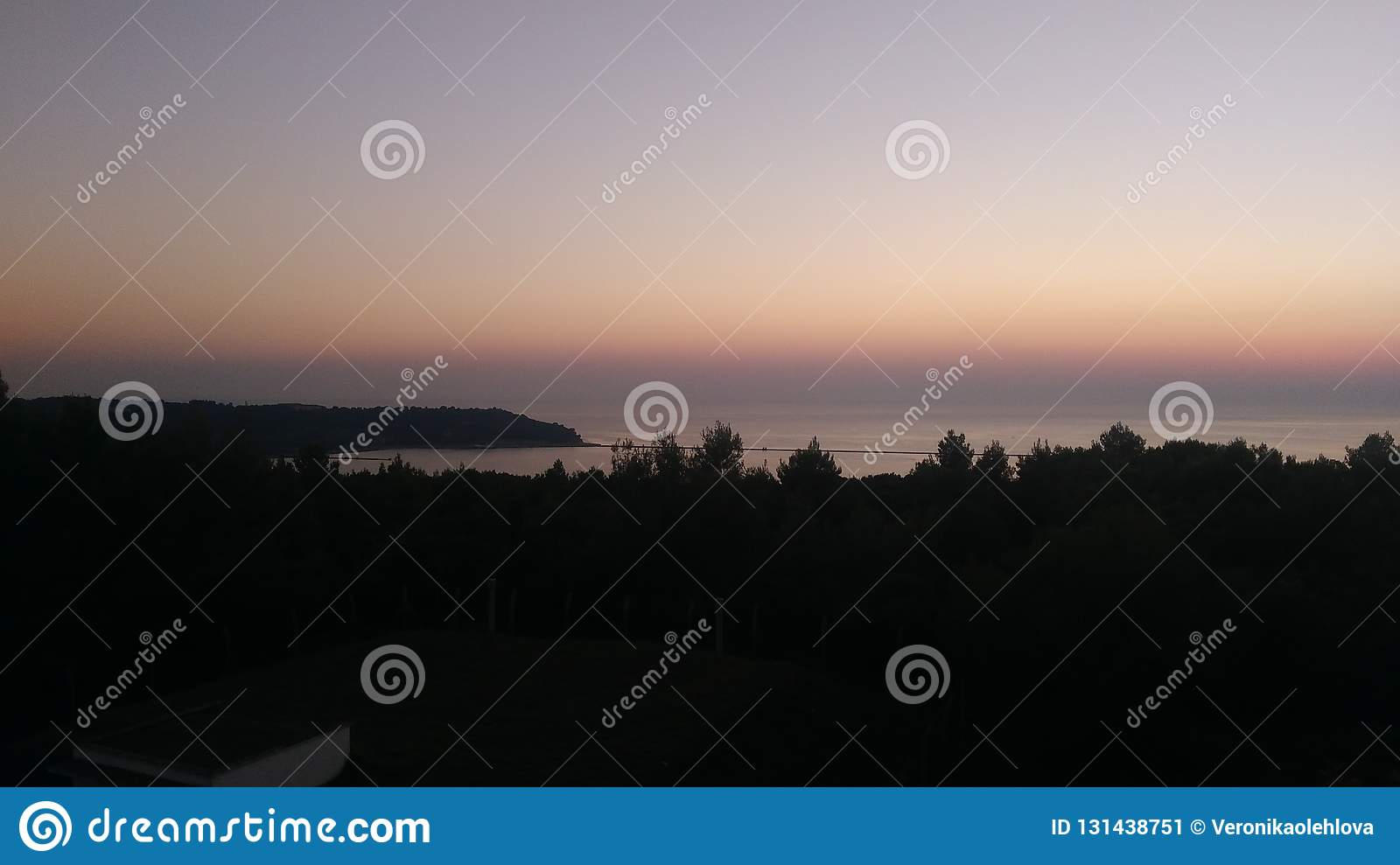 Sunset view from the fortress on peninsula